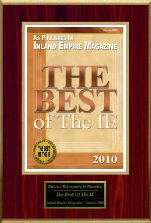 The Best of The IE 2010 Award Plaque