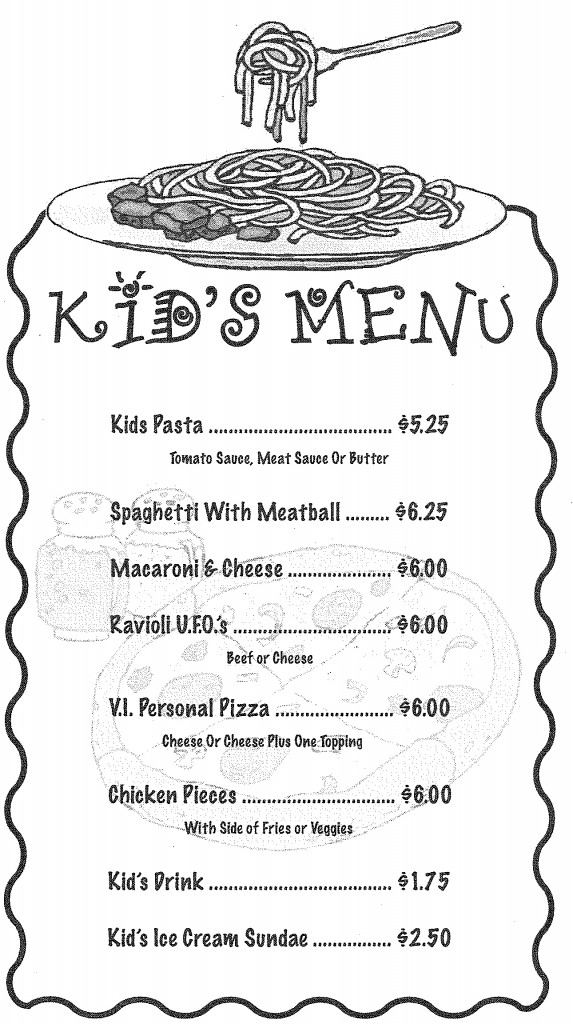 Rusitco Kid's Menu